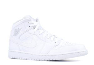 Details about NIKE AIR JORDAN 1 MID MEN'S SNEAKER RUNNING BASKETBALL SHOES WHITE 554724 104