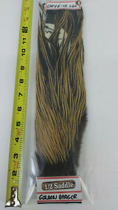 METZ-1-2-Saddle-1-GOLD-BADGER-Dry-Flies-Feathers-Size-6-12-FlyTying