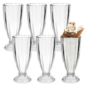 Details about 3 Or 6 Ice Cream Coupe Glasses Glass Sundae Fruit Dessert  Bowl Punch Sorbet Gift