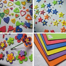 Pack de Corazones, Estrellas, Flores, y Hojas de goma EVA 2mm espesor DactiPack