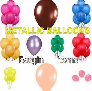 MIX Pack 100-10inch Air Helium Latex Balloons Birthday Party Metallic & Plain Celebrations & Occasions Home, Furniture & DIY