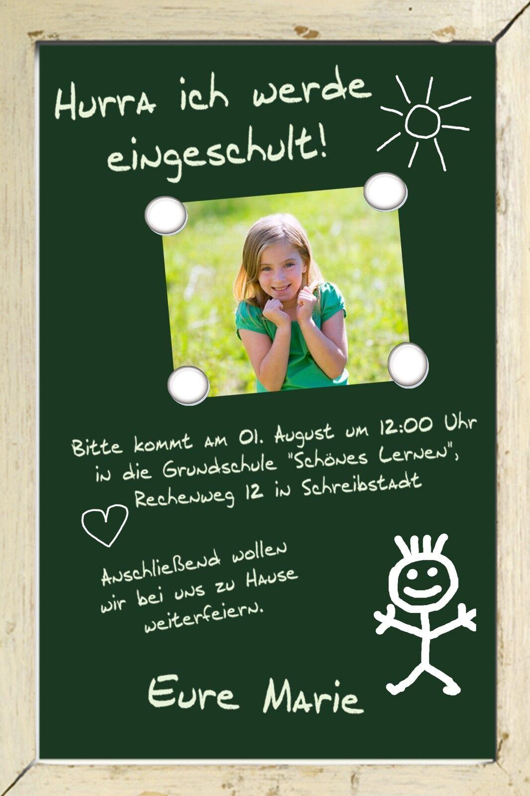 Einladung Danksagung Einschulung Schulanfang Karte individuell ein_01  | Umweltfreundlich  | Spielzeug mit kindlichen Herzen herstellen