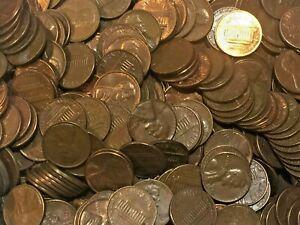 Lincoln Memorial Pennies 50 cent rolls 95/% copper S Lot 10 1959-1981 Mix U
