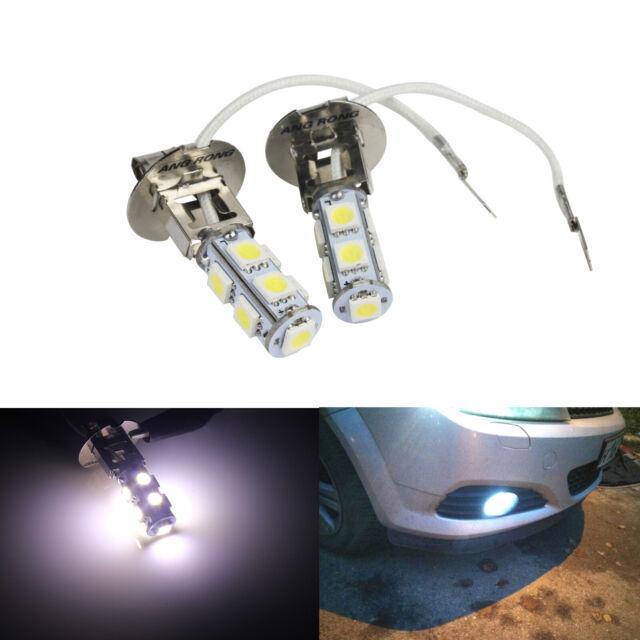2x H1 COB LED Auto Nebelscheinwerfer DRL Tagfahrlicht Lampe Weiß AB X U/_M