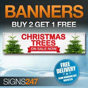 CHRISTMAS-TREES-NOW-ON-SALE-waterproof-PVC-banner-sign-YA003