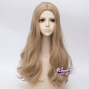 60CM-Licht-Flaxen-lange-Haare-wellenfoermige-Lolita-Peruecke-Frauen-Anime-Cosplay