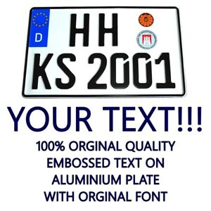 Germany German Custom Euro Personalized Car Us Size License Number