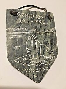 VINTAGE SIOUX INDIAN CARVED STONE ROCK BRANDON MANITOBA ...
