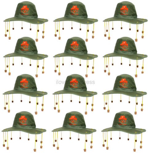 12 x AUSTRALIAN SUGHERO CAPPELLO AUSTRALIA DAY Party Fancy Dress Rugby Cricket sostenitore