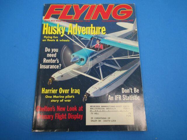 Flying Magazine October 2003 Husky Adventure Need Renter's