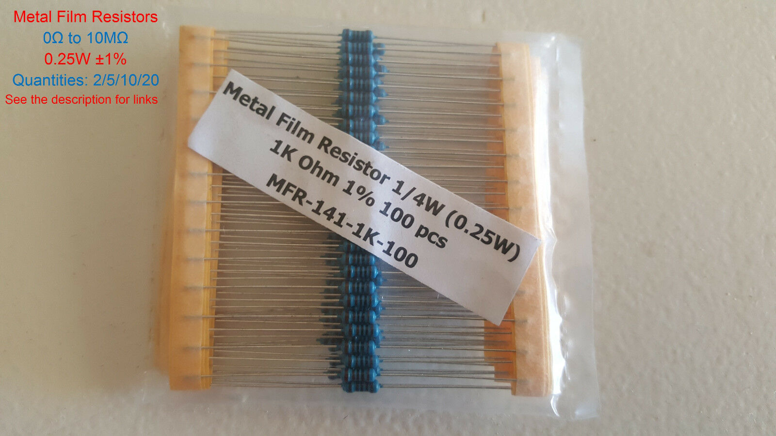 5 pieces Thin Film Resistors SMD 1//4watt 10Kohms 0.1/% 5ppm