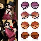 Unisex Women Fashion Retro Vintage Style Sunglasses Glasses Round Metal Frame F