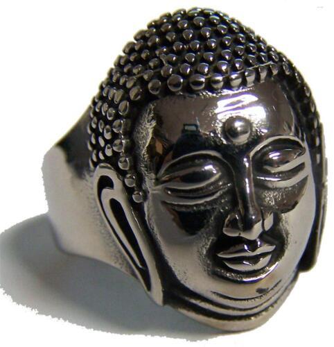 BUDDHA HEAD STAINLESS BIKER RING #540-S Fashion men women JEWELRY unisex new
