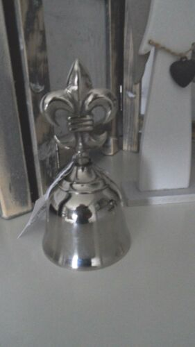 Glocke silber farben mit einer Lilie 5046//14 Elegante Tischglocke Handglocke
