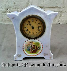 B2016577 - Jolie Petite Horloge En Porcelaine - Ne Fonctionne Pas Moins Cher
