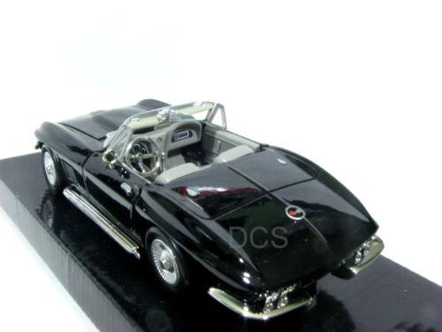 MotorMax 1967 Chevrolet Corvette Black 1//24 Diecast Car