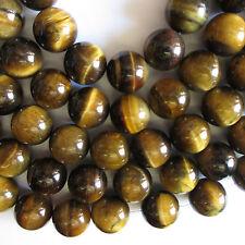 Ojo De Tigre Round piedras preciosas perlas - 20 Mm X 10 Beads-Buy dos por uno libre