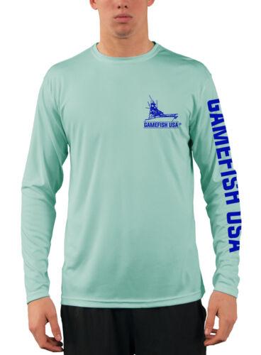 Men/'s UPF 50 Long Sleeve Microfiber Performance Fishing Shirt Mahi