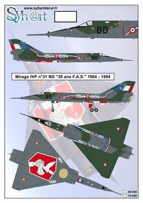 Syhart 1/48 Dassault Mirage Ivp N 31 Bd #48096 Facile Da Usare