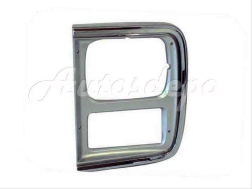 For 1985-1991 Chevy//Gmc Van Single Rect Headlight Door Lh W//Chrome Strip Type