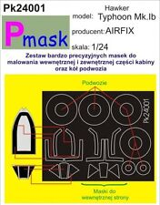 HAWKER TYPHOON MK.I B CANOPY & WHEELS MASK TO AIRFIX KIT #24001 1/24 PMASK