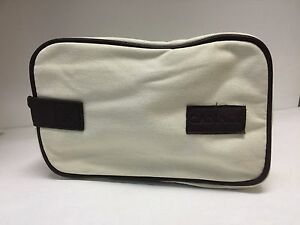 Canali-Cream-Toiletry-Bag-Travel-Shaving-Kit-Zipper-Cosmetic-Tote-Makeup-Case