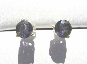 Iolith-Wassersaphir-Ohrstecker-6-mm-925-Silber-E7057-Iolite-earrings