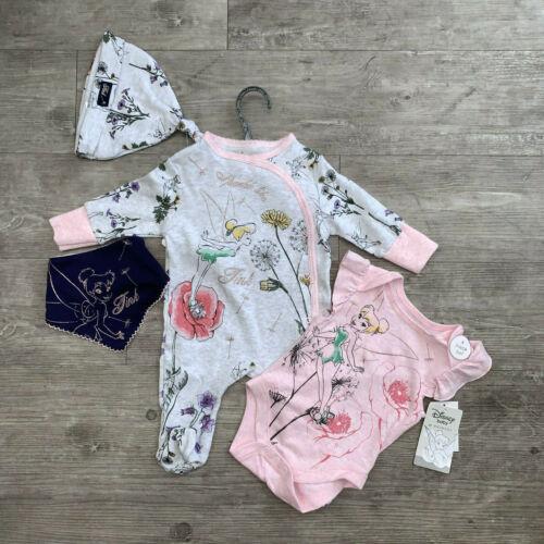 Minnie 4 Piece Set Babygrow Vest Hat Bib Baby Girl 0-12 Months Disney Bambi