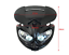 Moto-Faro-amp-Soportes-Para-Bicicleta-De-Proyecto-Streetfighter-Personalizado-Negro miniatura 2