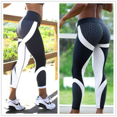 Womens Sport Compression Fitness Leggings Running Yoga Gym Pants Workout Wear GW