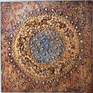Quadro-astratto-texture-cm-50x50-oro-dipinto-a-mano-tela-cotone-telaio-legno-C
