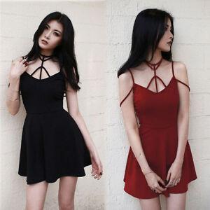 Japanese-Vintage-Harajuku-Punk-Gothic-Lolita-Summer-Sexy-Sleeveless-Slim-Dress