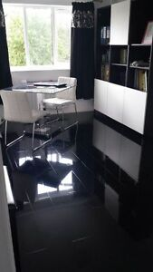 Image Is Loading BLACK High Gloss Laminate Flooring Price Per 2