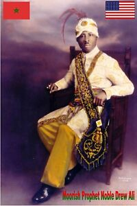 Details about Prophet Noble Drew Ali poster, Moorish Science Temple of  America poster
