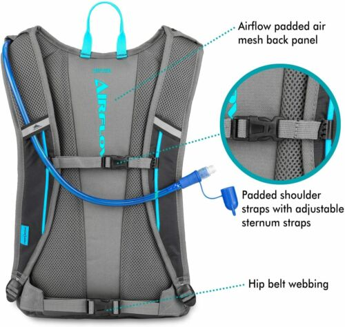Details about  /High Sierra HydraHike Hydration Pack Black//Slate//Poo 20L 122659-6853