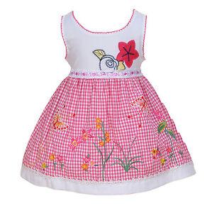73c18e69dd67e Neuf Bébé Filles Robe Fleurie de Fête en Rose Black 3 6 9 12 18 24 ...