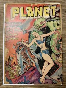 Planet-Comics-67-Golden-Age-Fiction-House-Comic-Book-Poor