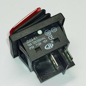 JIN DING JD03-K1 4Pins 16A Rocker waterproof switch 250V IP55 T125 1E4 Red Lamp