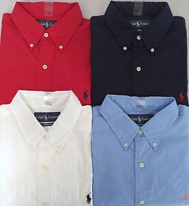 Ralph Lauren Men Slim-Fit American Big Polo Red Short Sleeved