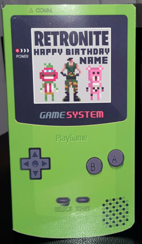 Birthday Card Personalised 3D RetroNite Gaming Game Boy//Playstation//XBox Fans