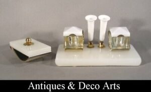 Vintage-Double-Inkwell-with-Penholders-amp-Blotter