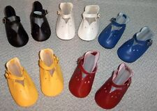 5 pair DOLL SHOES * CHATTY CATHY * 5 COLORS Mary Janes LOT of 5 Pair!