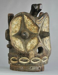 Grand-Masque-Africain-Alunga-BEMBE-CONGO-Large-Mask-African-Tribal-Art-Africain