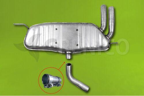 attaches SEAT LEON II 2.0TDi Hayon 2005-2011 Silencieux arrière Échappement