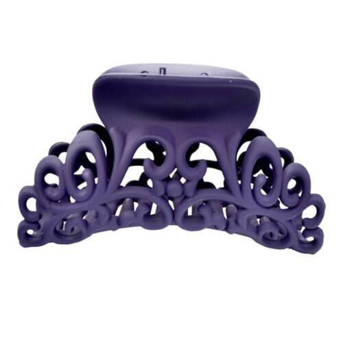 Femmes plastique Scrub Pince à cheveux noir clip Hollow Out Carving grande taille cheveux crabe
