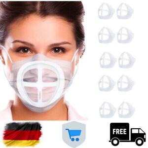 💥3/5/10 3D Masken Abstandshalter Atemhilfe Mund-Nasen-Masken-Halter Mundschutz