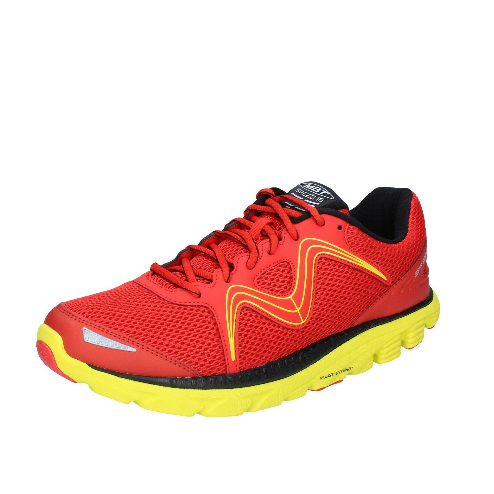 Men's shoes MBT 10,5 () sneakers red textile lightweight BS378-44,5