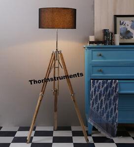 floor lamp office. Image Is Loading Vintage-Wooden-Lamp-Tripod-Floor-Lamp-Office-Desk- Floor Lamp Office L