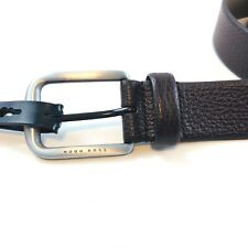 Hugo Boss Orange Jeppo Italian Leather Belt Brown Handmade in Romania 32,34,36