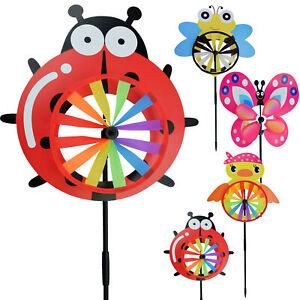 2 x Windrad Regenbogen Garten Windrad Windspiel 3D Windmühle Gartendeko outdoor